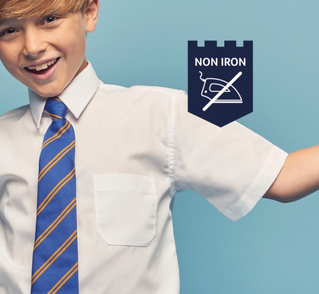 What's my size? School shirt fitting guide.