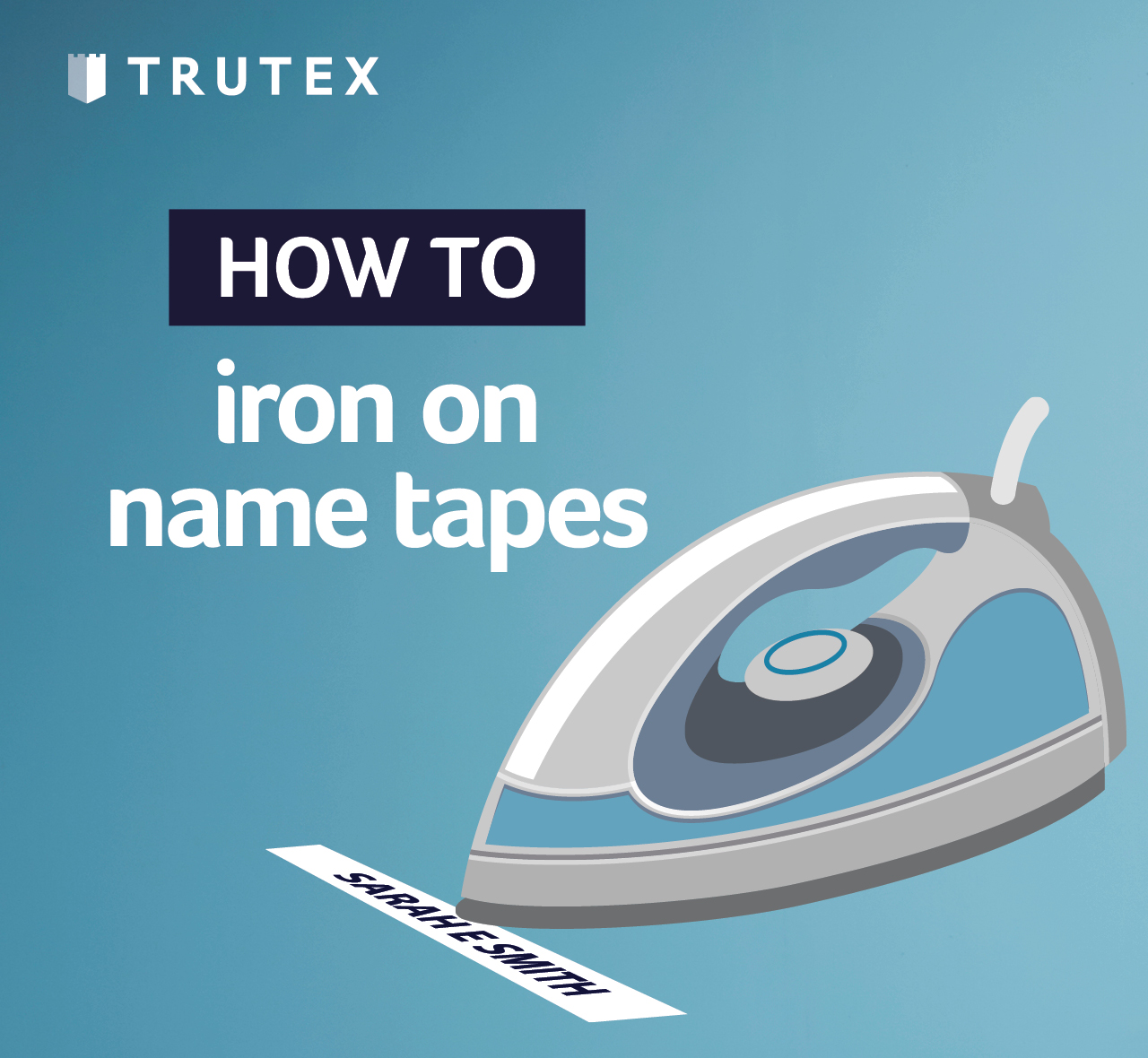 How to: iron on name tapes