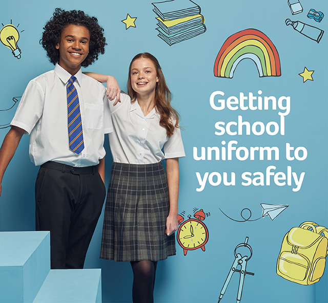 Getting school uniform to you safely