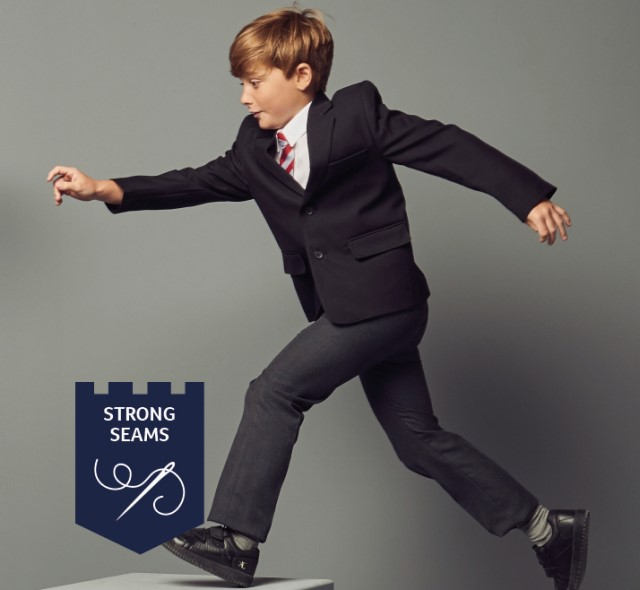 What's my size? Junior boys trouser fitting guide.